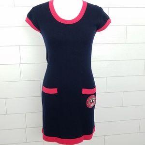 Chanel 100% Cashmere Mini Dress Size 36 Small Blue